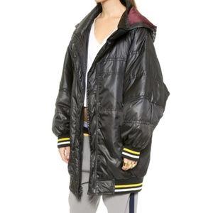 DKNY x Cara Delevingne Oversized Puffer Coat